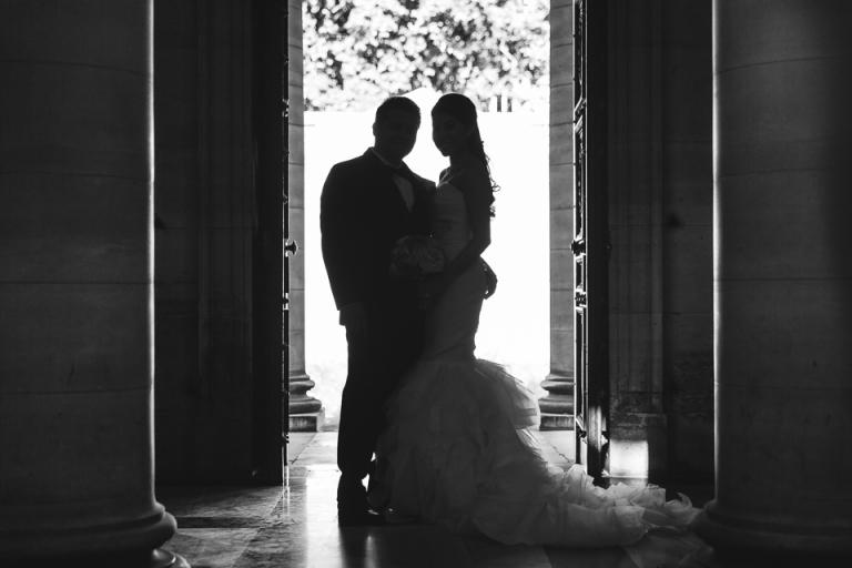 photo de mariage en contre jour