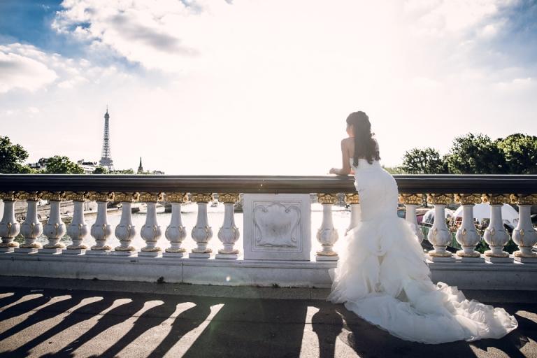 photo de mariage sur le pont Alexandre III