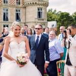 la mariée arrive pour la cérémonie