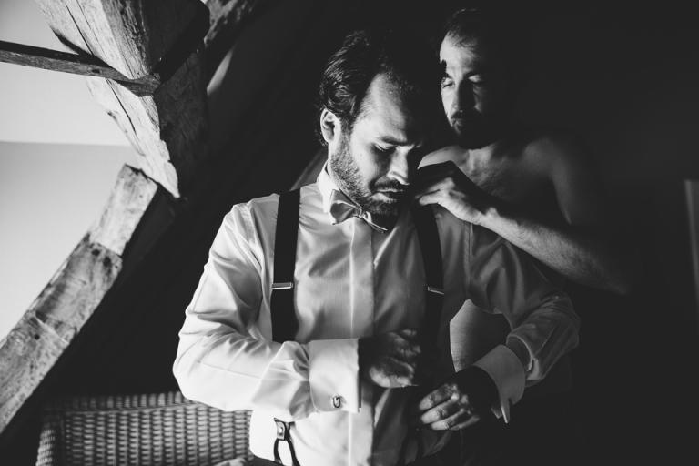 préparatifs mariage dans un château