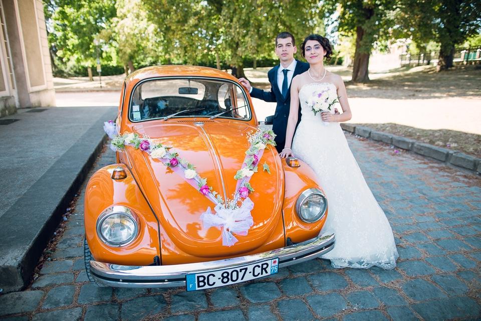 jolie voiture de mariage originale
