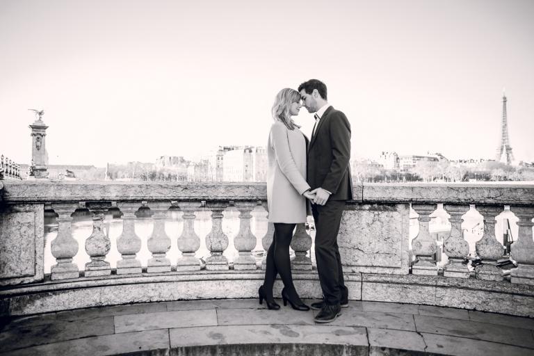 photo des mariés à Paris
