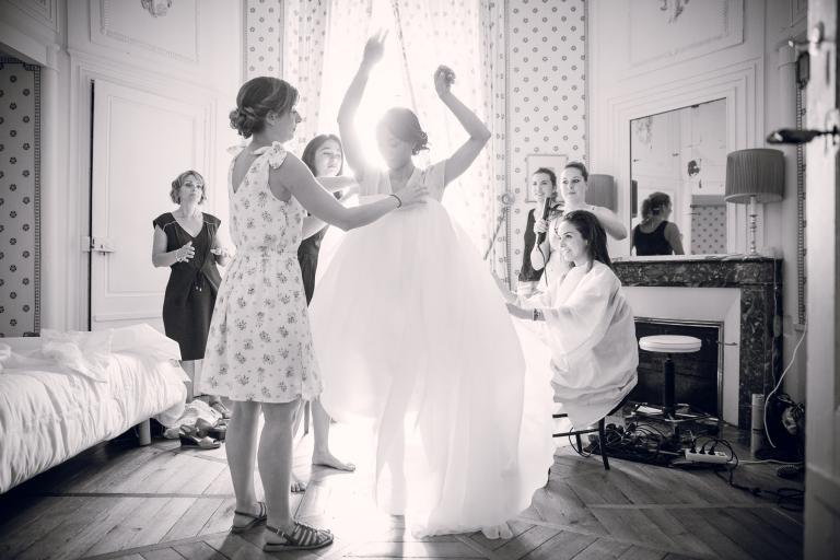 préparatifs de mariage au château de Sens Beaujeu